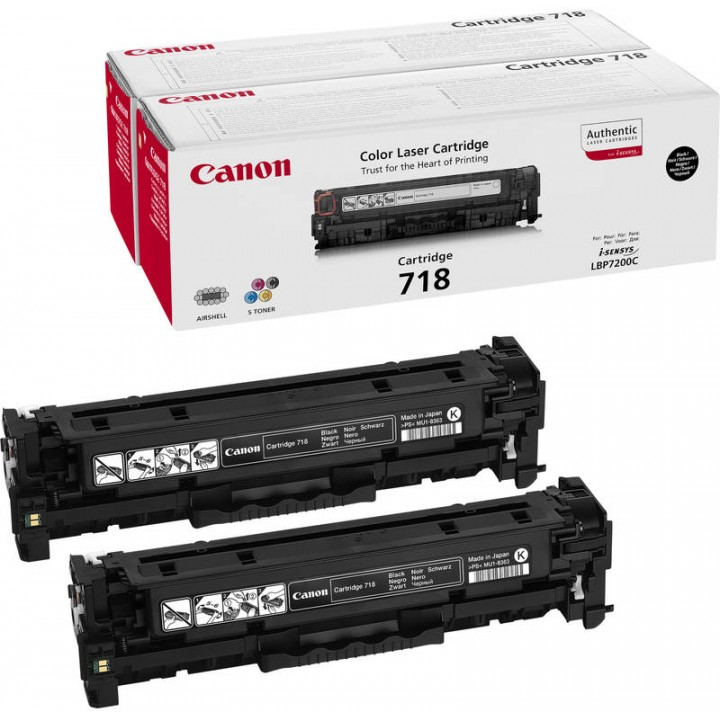 Canon Cartridge 718 BK Twin